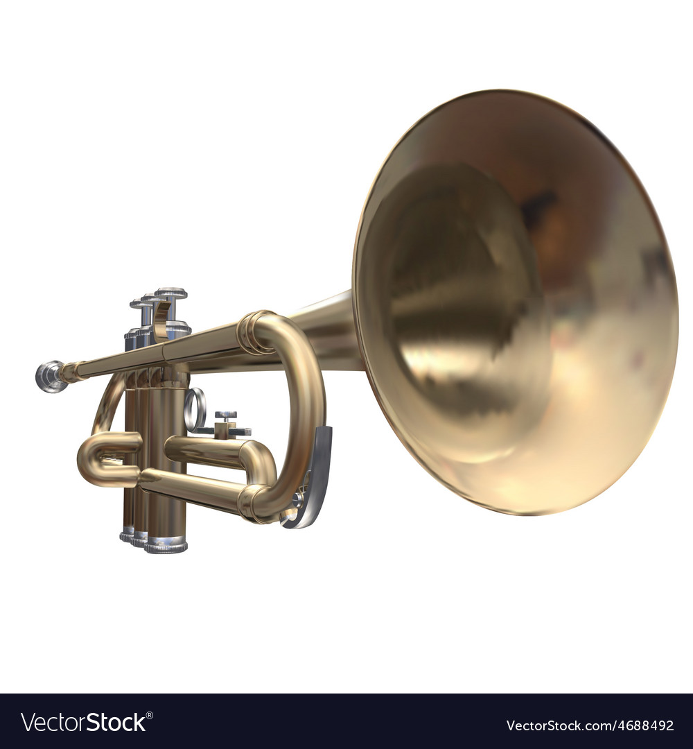Isolated trumpet on a white background vector | Price: 3 Credit (USD $3)