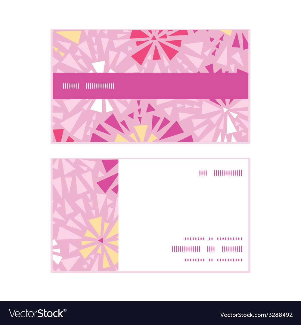 Pink abstract triangles horizontal stripe frame vector | Price: 1 Credit (USD $1)