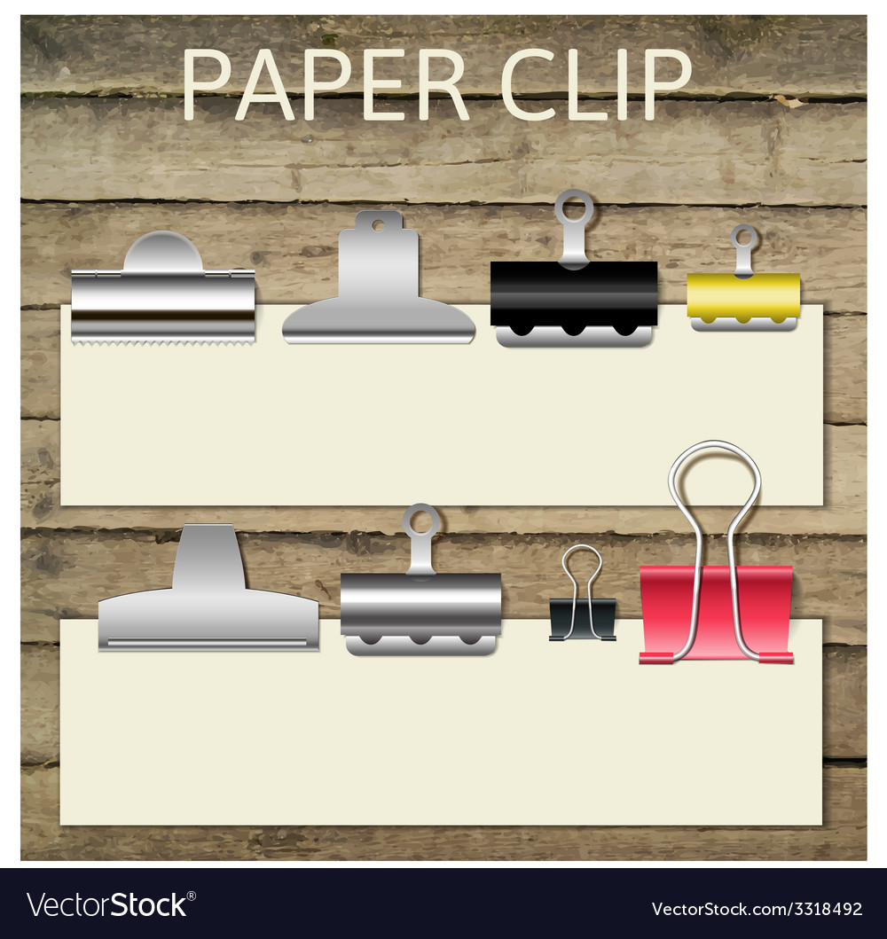 Set of different paper clips for your design vector   Price: 1 Credit (USD $1)