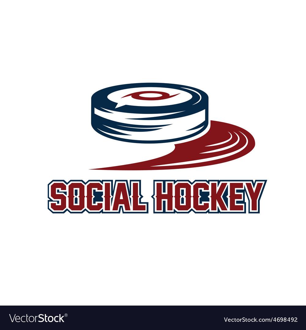Social hockey design template vector | Price: 1 Credit (USD $1)