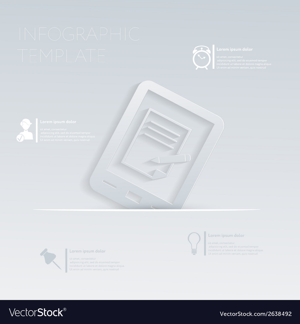 Tablet pad with sheet of paper template gr vector   Price: 1 Credit (USD $1)