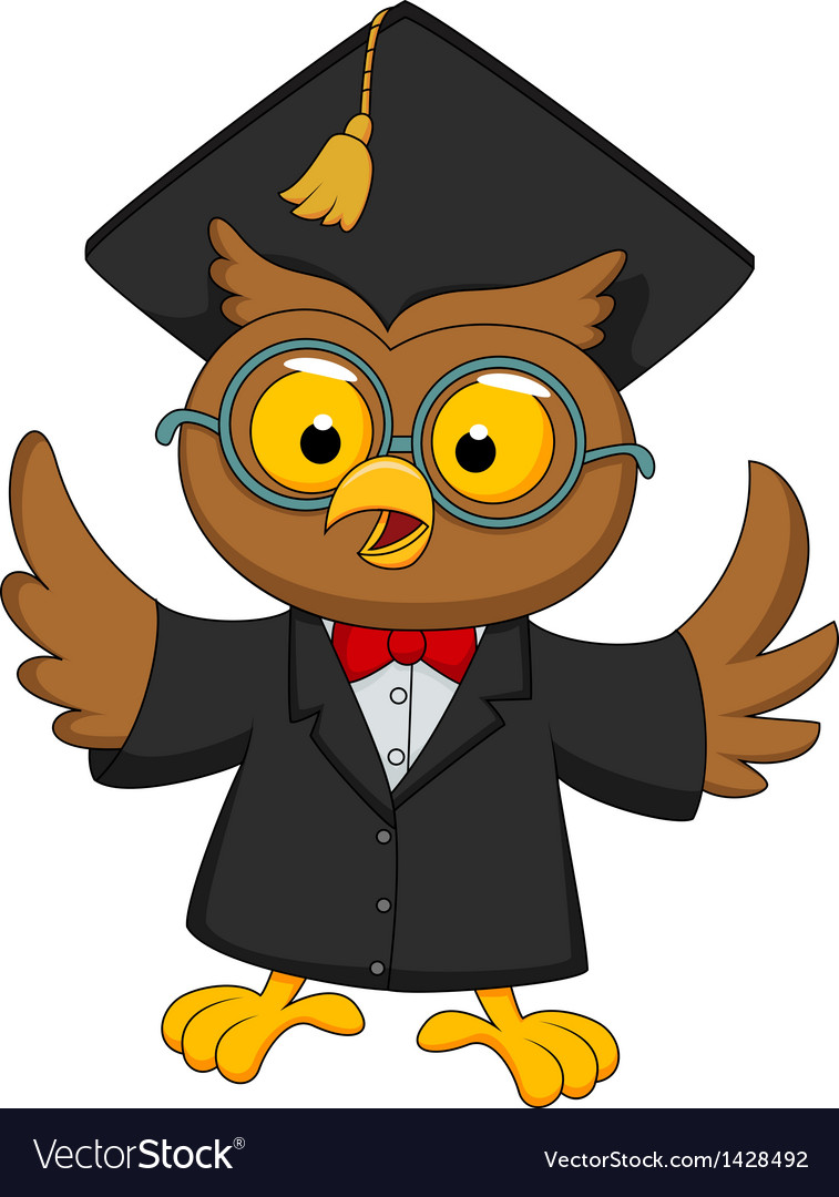Wise owl vector | Price: 1 Credit (USD $1)