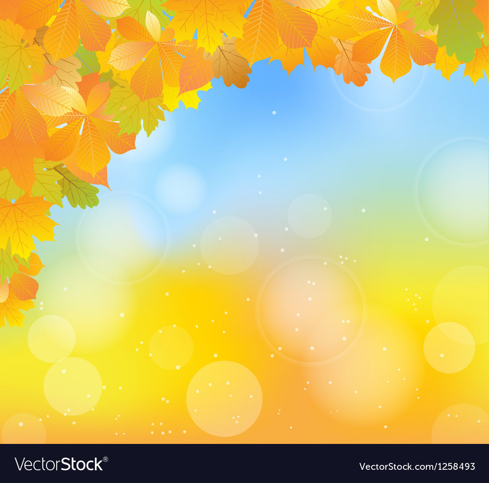 Autumn blue corner vector | Price: 1 Credit (USD $1)