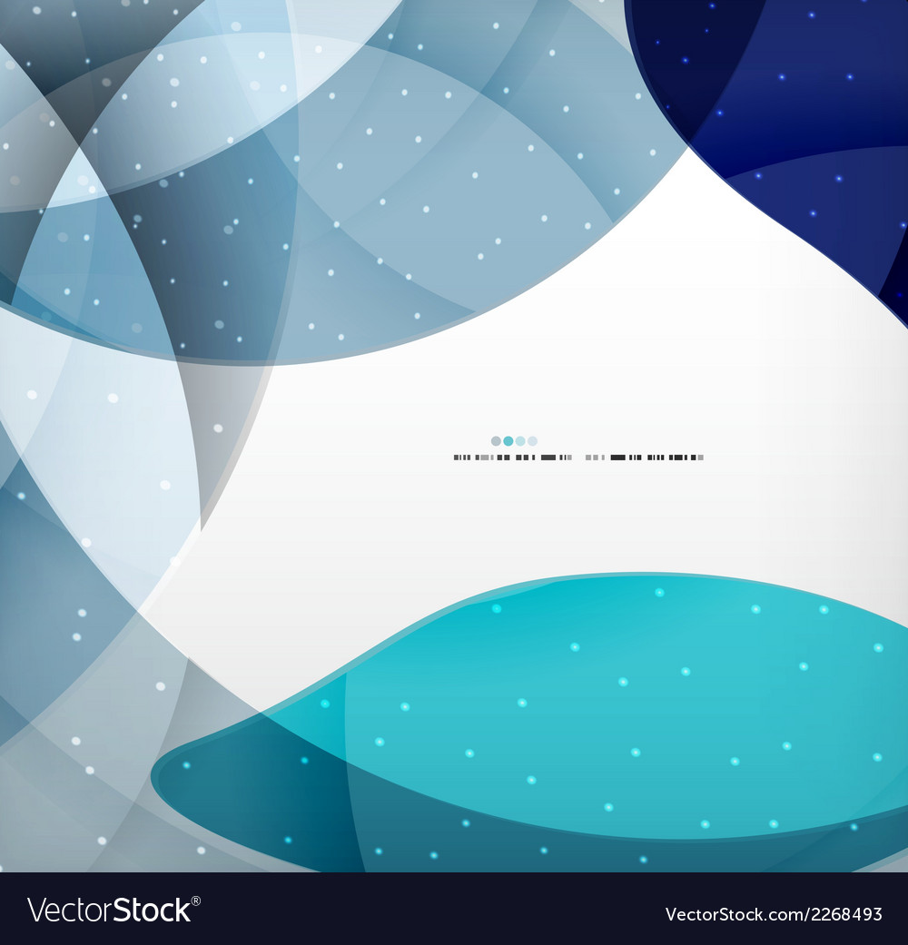 Blue corporate abstract shapes modern brochure vector | Price: 1 Credit (USD $1)