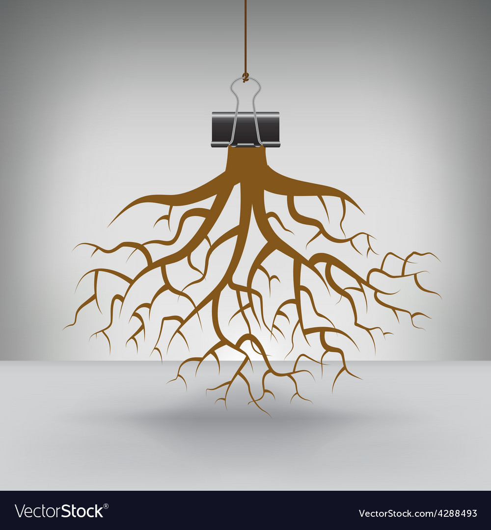 Clip roots vector | Price: 1 Credit (USD $1)
