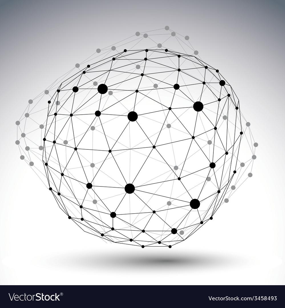 Digital 3d abstraction lattice geometric polygonal vector | Price: 1 Credit (USD $1)