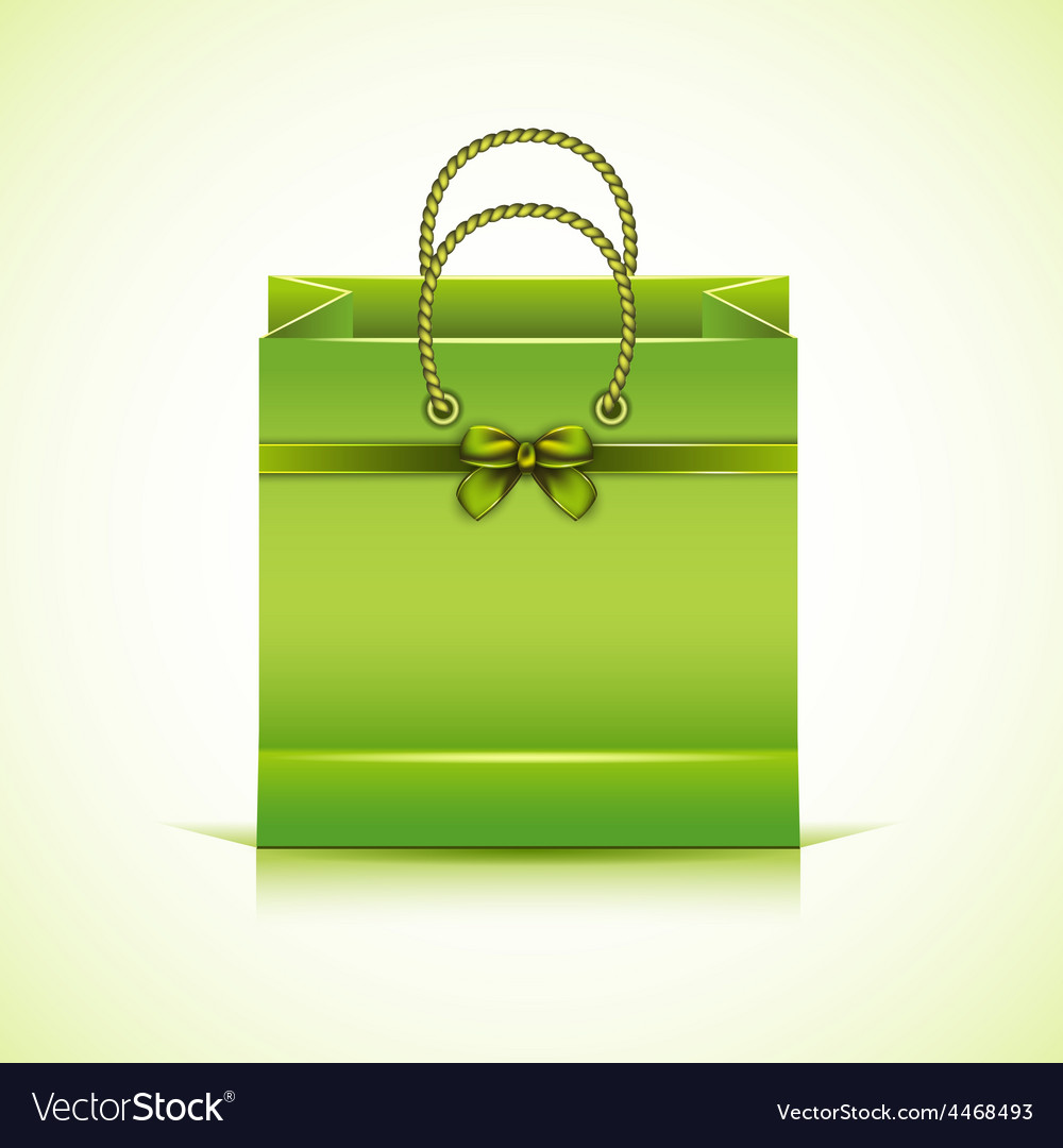 Green paper shopping bag vector | Price: 3 Credit (USD $3)
