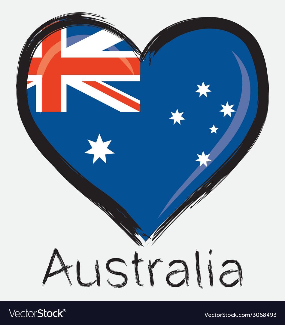 Love australia flag vector | Price: 1 Credit (USD $1)