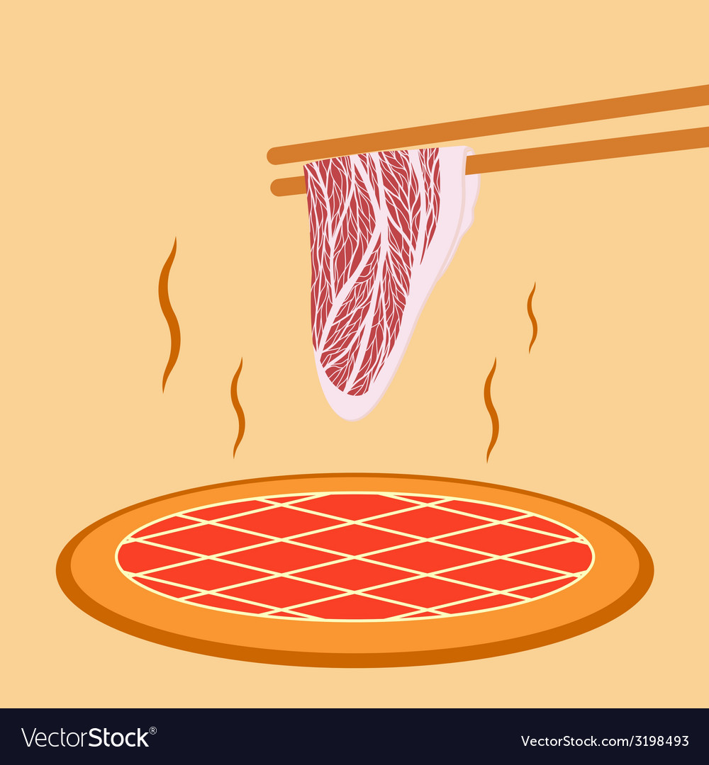 Meat grill vector | Price: 1 Credit (USD $1)