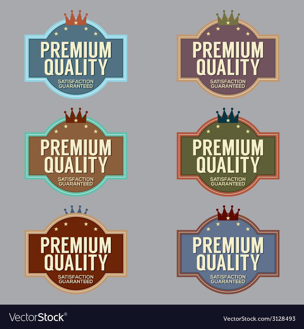 Set of vintage retro badge vector | Price: 1 Credit (USD $1)
