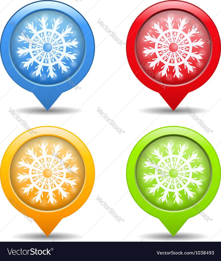 Snowflake icons vector | Price: 1 Credit (USD $1)