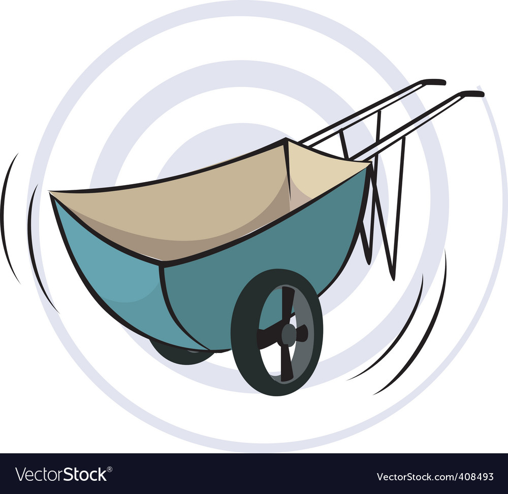 Wheel barrow vector | Price: 1 Credit (USD $1)