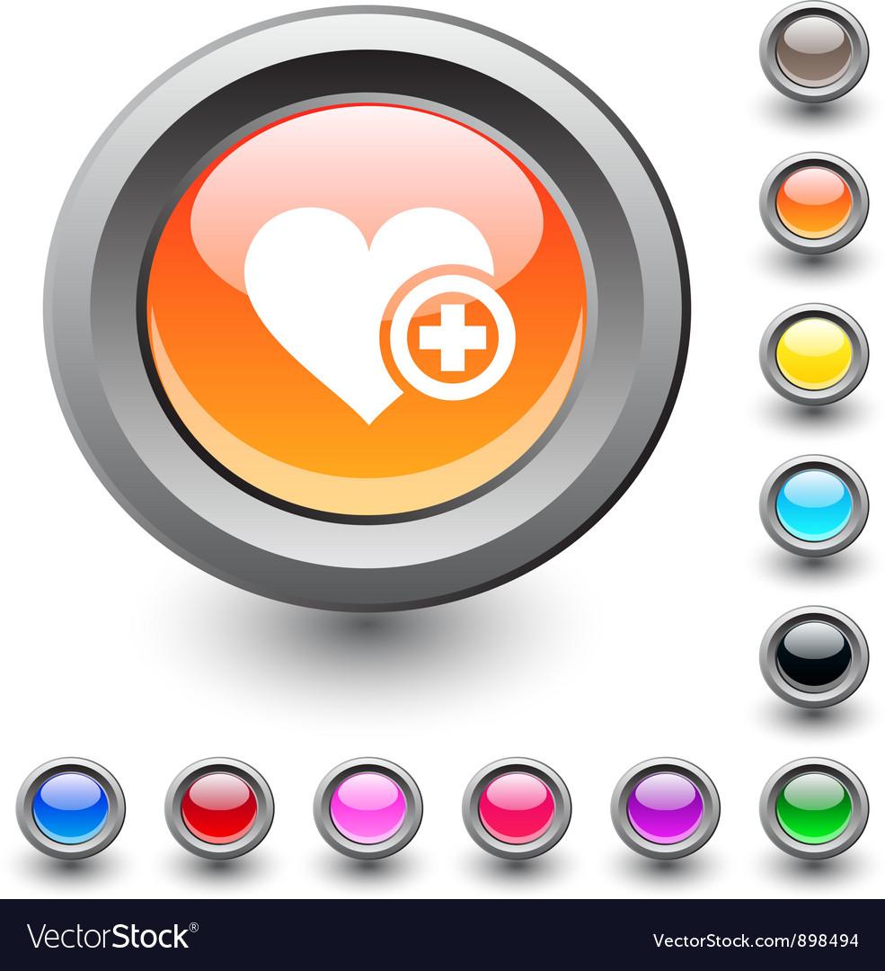 Add to vavorite round button vector | Price: 1 Credit (USD $1)