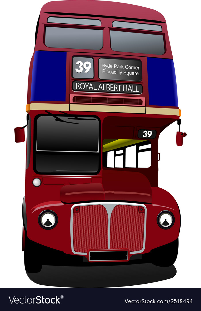 Al 0316 london bus vector | Price: 1 Credit (USD $1)