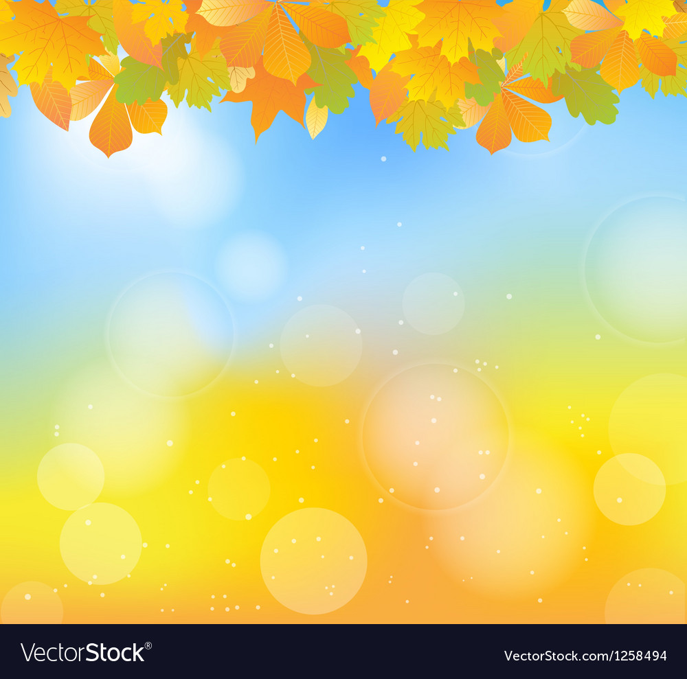 Autumn blue top vector | Price: 1 Credit (USD $1)