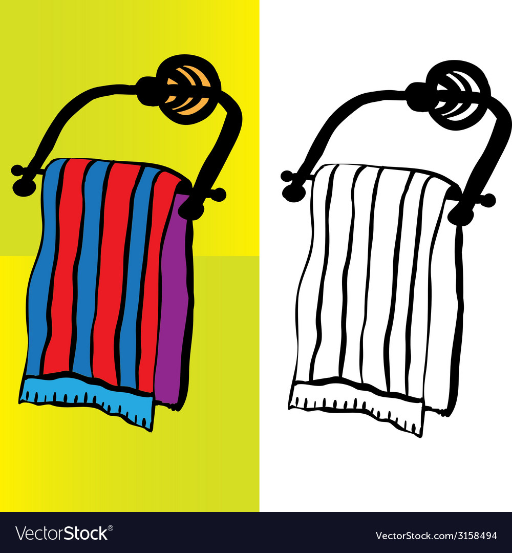 Bath towel vector | Price: 1 Credit (USD $1)