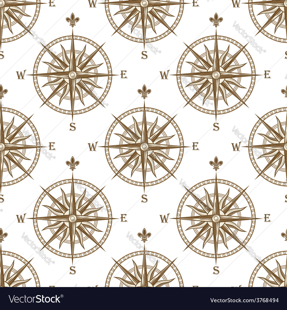 Compass seamless background pattern vector | Price: 1 Credit (USD $1)