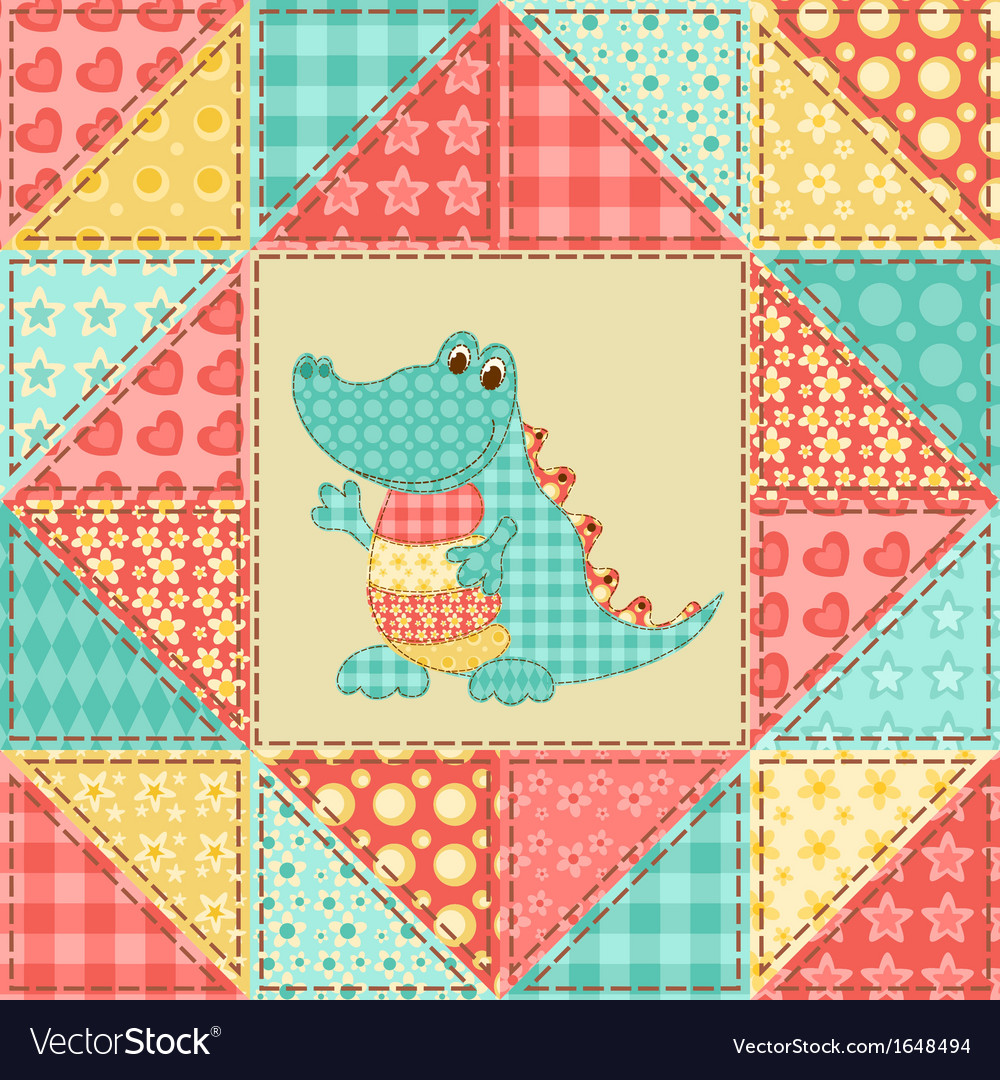 Crocodile quilt pattern vector | Price: 1 Credit (USD $1)
