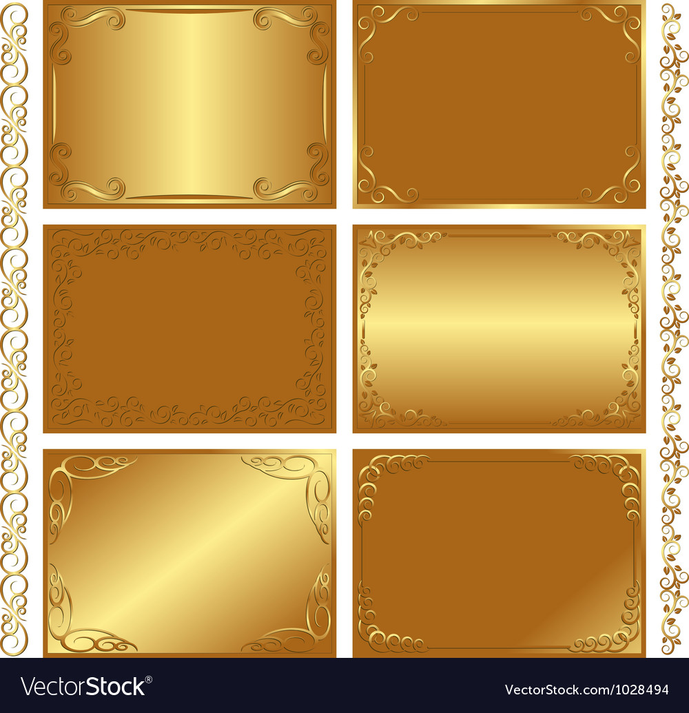 Golden backgrounds vector | Price: 1 Credit (USD $1)