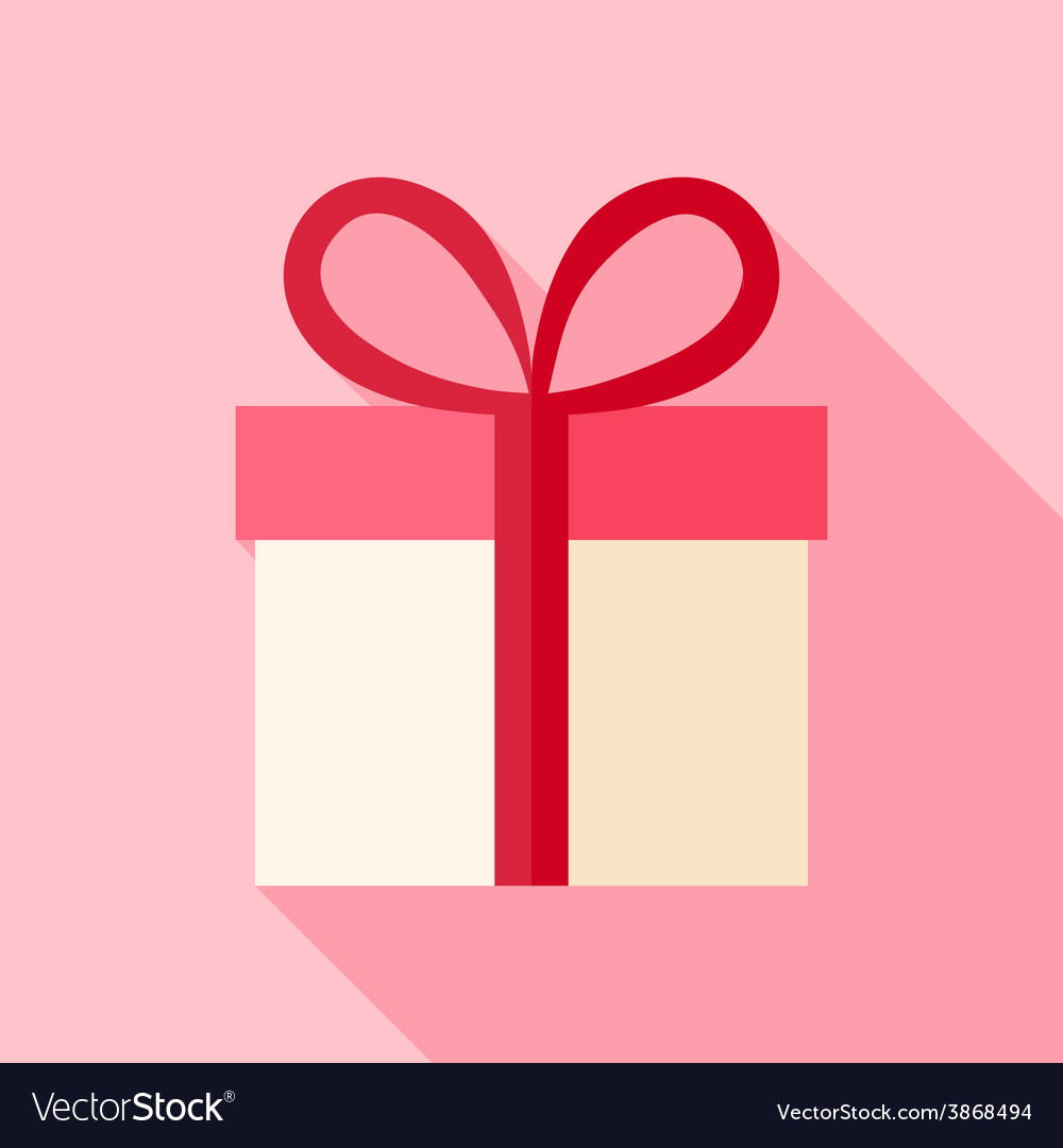 Present box with bow vector | Price: 1 Credit (USD $1)