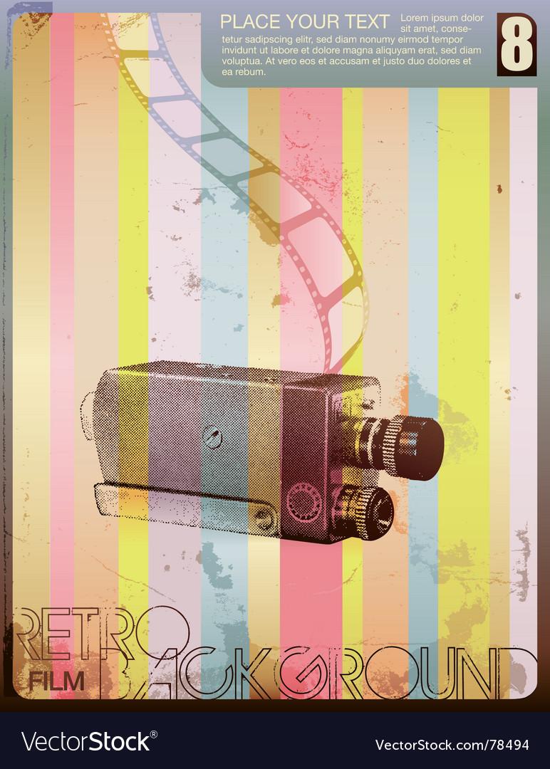 Retro movie poster vector | Price: 1 Credit (USD $1)