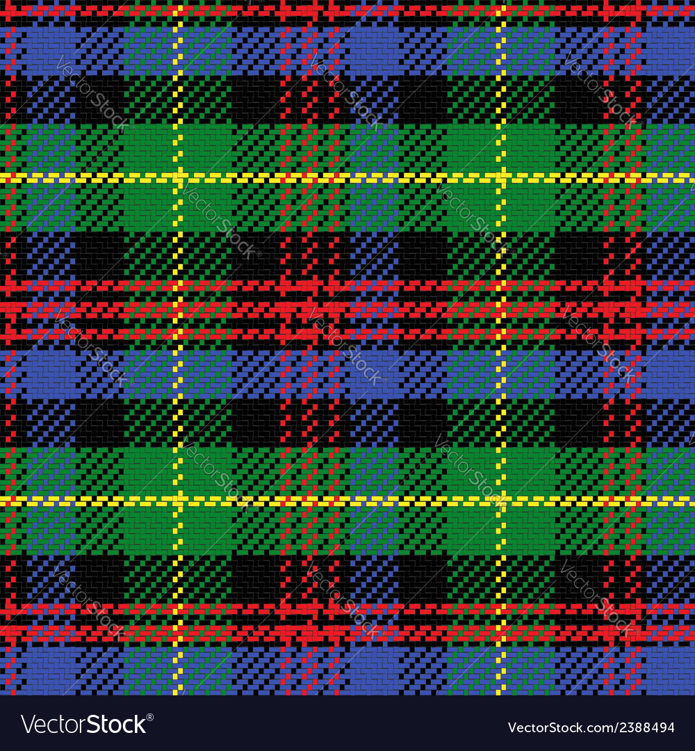 Seamless pattern scottish tartan black watch vector | Price: 1 Credit (USD $1)