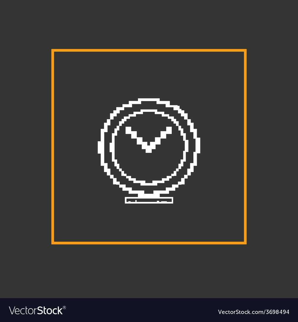 Simple stylish pixel clock icon design vector | Price: 1 Credit (USD $1)