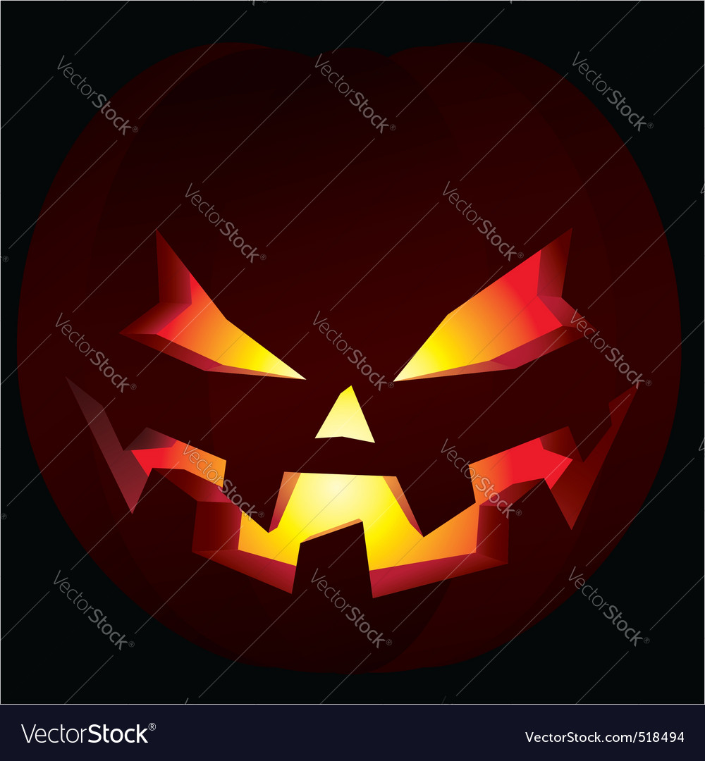 Spooky halloween pumpkin vector | Price: 1 Credit (USD $1)