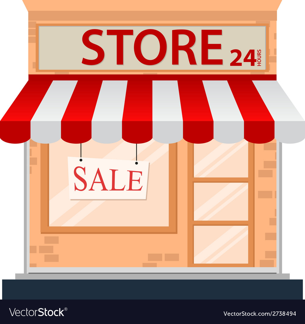 Store icon isolated on white vector | Price: 1 Credit (USD $1)