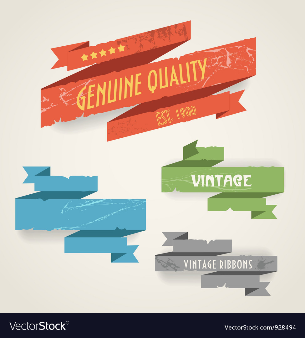 Vintage ribbons vector | Price: 1 Credit (USD $1)