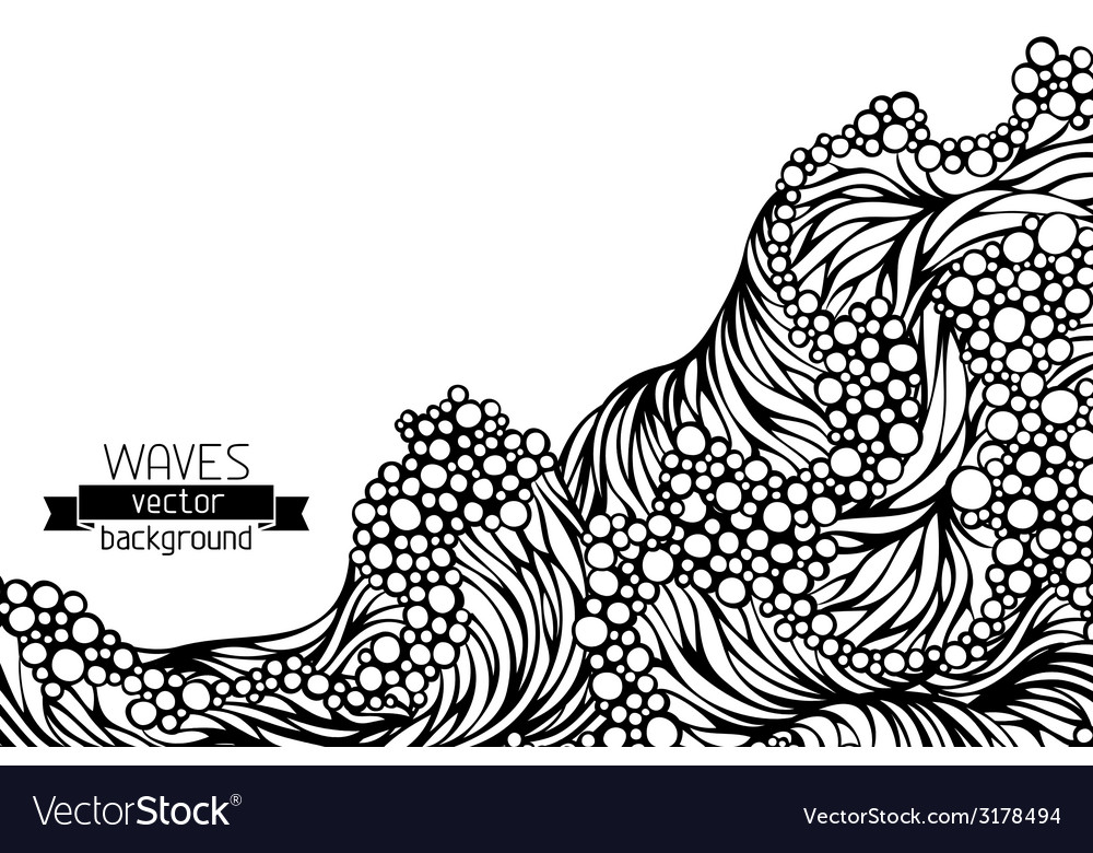 Waves background vector | Price: 1 Credit (USD $1)