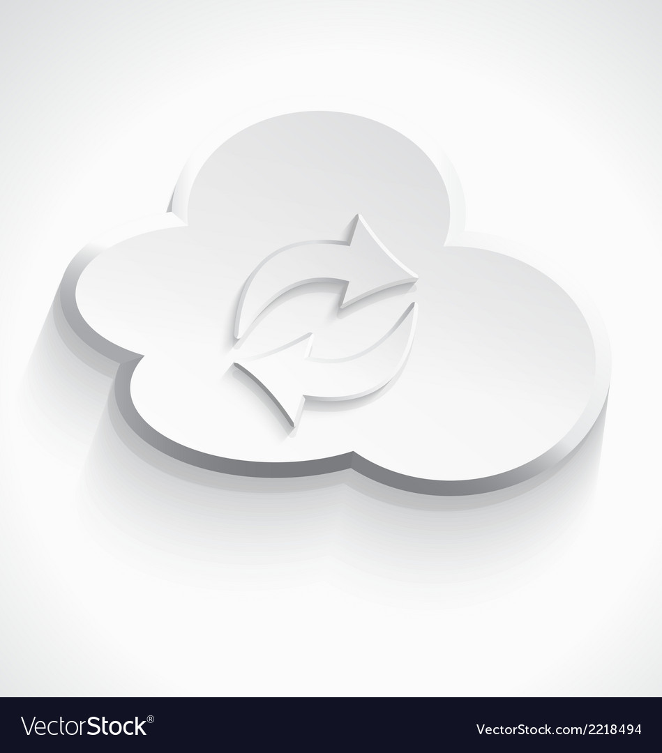 White cloud computing sink icon 3d vector | Price: 1 Credit (USD $1)