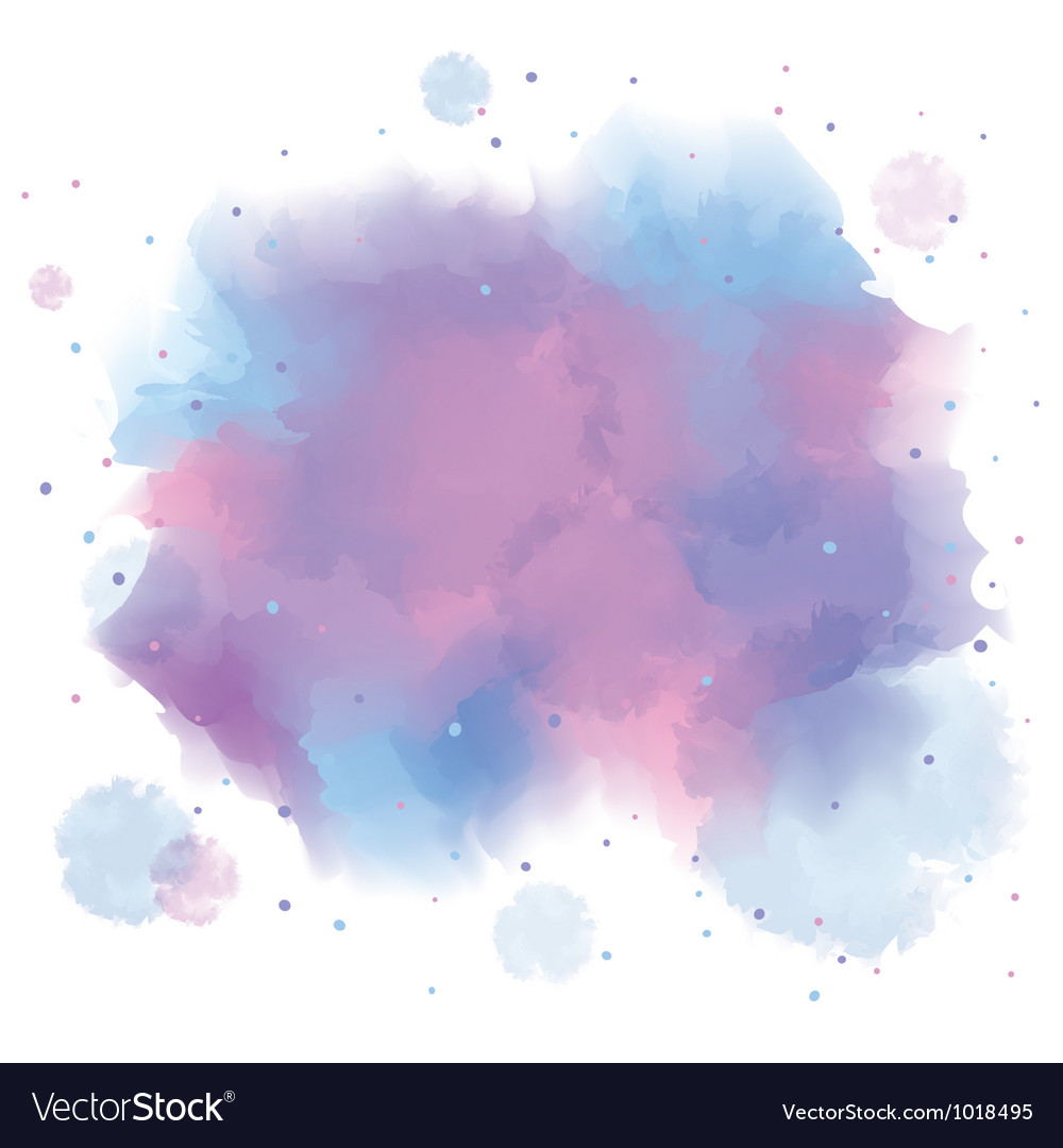 Blue spot watercolor abstract hand painted vector | Price: 1 Credit (USD $1)