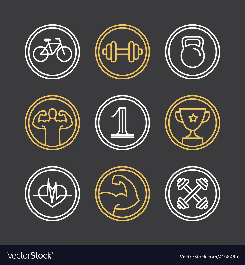 Crossfit logos and emblems vector | Price: 1 Credit (USD $1)
