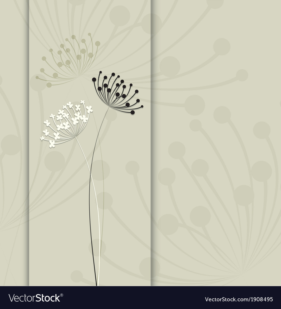 Flower background simple and clean design template vector | Price: 1 Credit (USD $1)