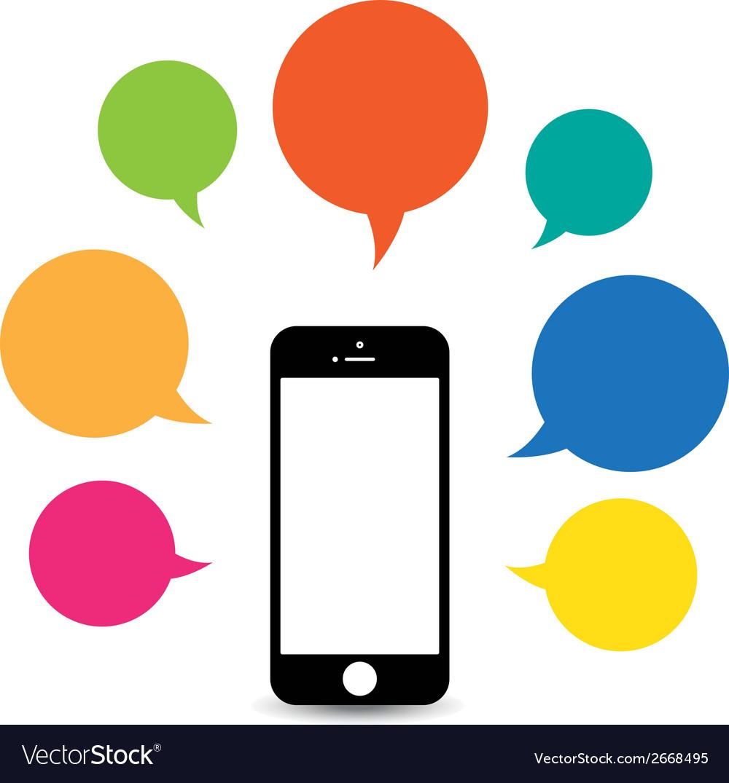 Hello phone vector | Price: 1 Credit (USD $1)