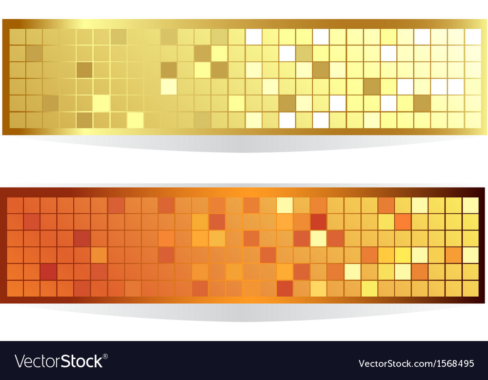 Horizontal checkered banner vector | Price: 1 Credit (USD $1)