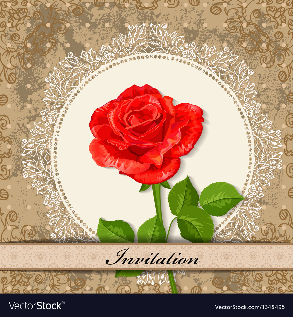 Invitation rose vector | Price: 1 Credit (USD $1)