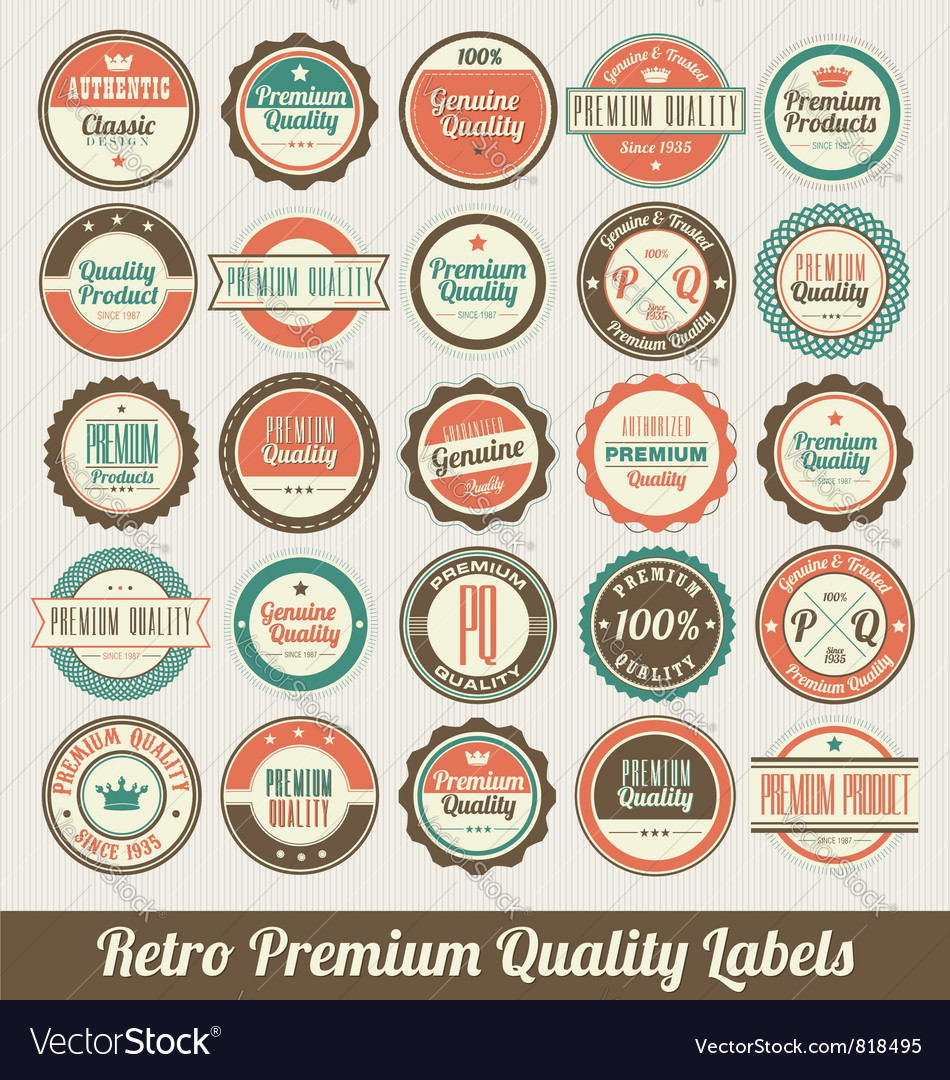 Retro labels set vector | Price: 3 Credit (USD $3)