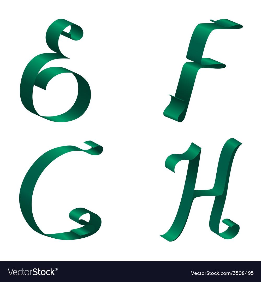 Ribbon alphabet vector   Price: 1 Credit (USD $1)