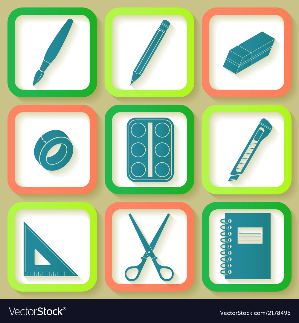 Set of 9 icons of instruments vector | Price: 1 Credit (USD $1)