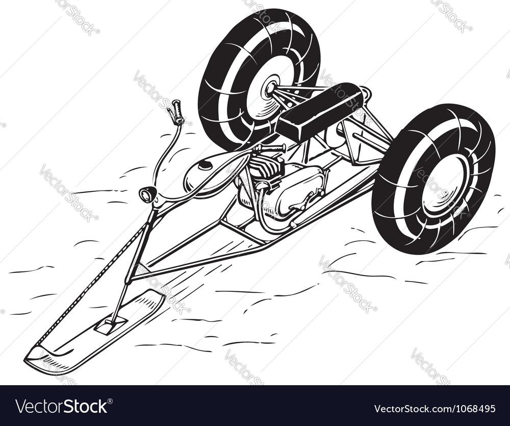Snowmobile vector   Price: 1 Credit (USD $1)