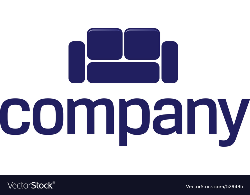 Sofa logo  furniture company vector | Price: 1 Credit (USD $1)