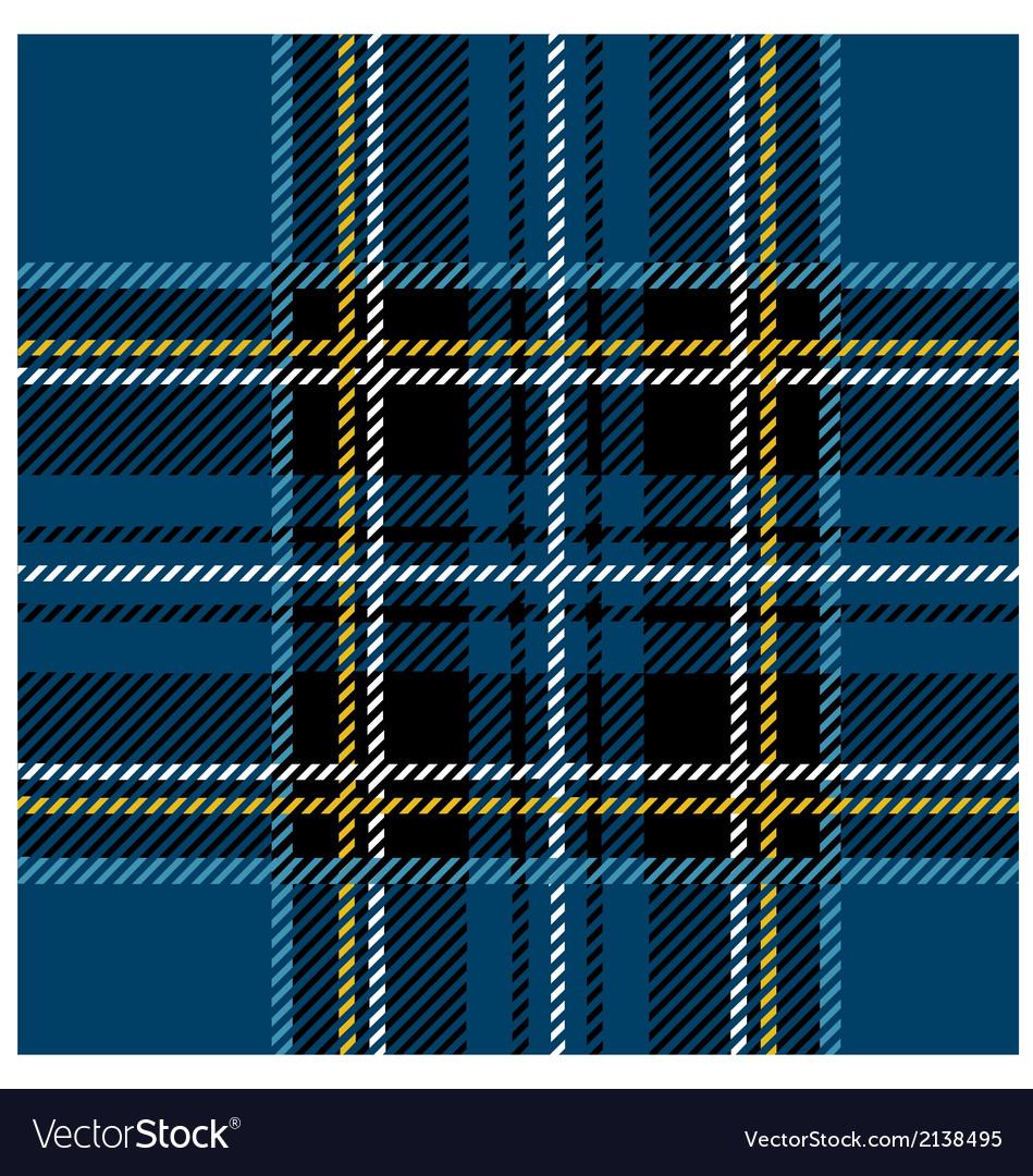 Traditional seamless blue tartan pattern vector | Price: 1 Credit (USD $1)