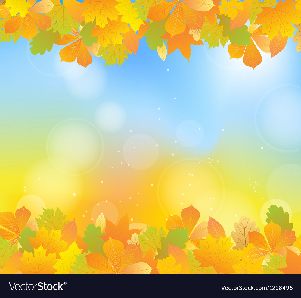 Autumn blue topbot vector | Price: 1 Credit (USD $1)