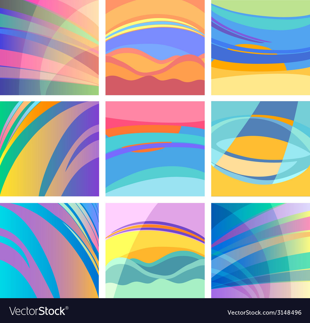 Background abstract pastel design set vector | Price: 1 Credit (USD $1)