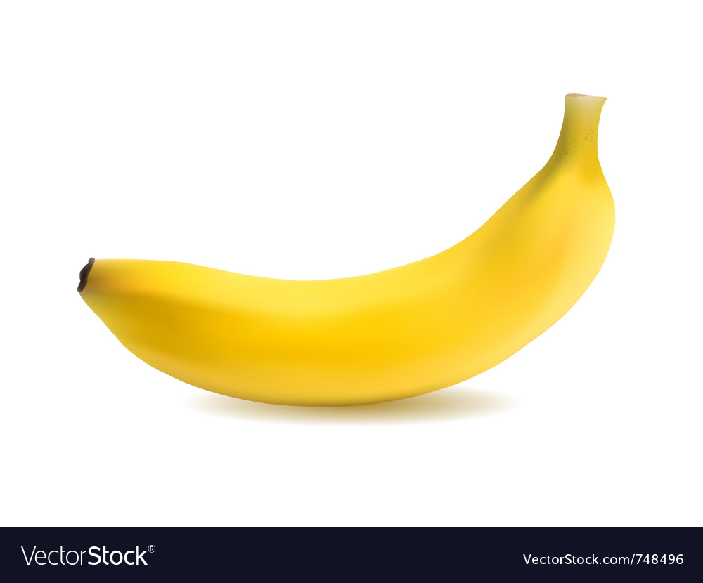 Banana object vector | Price: 1 Credit (USD $1)