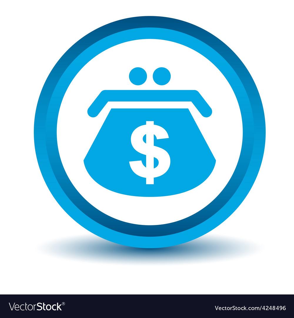 Blue dollar purse icon vector | Price: 1 Credit (USD $1)