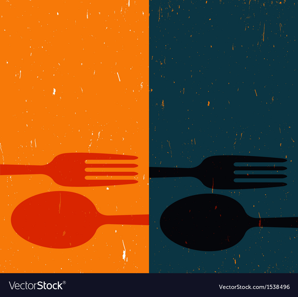 Cutlery on abstract background vector | Price: 1 Credit (USD $1)
