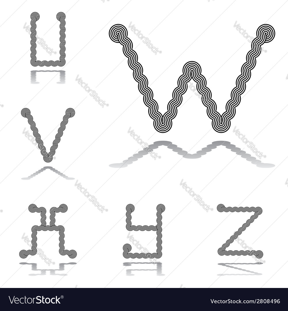 Design abc letters from u to z vector | Price: 1 Credit (USD $1)